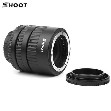 SHOOT XT-365 Auto Focus AF Macro Extension Tube Adapter Ring Set 12mm 20m 36mm for Nikon F-mount AF Lens for Nikon D3300/D3400/D3500/D500/D5300/D5500/D5600/D610/D700/D7000/D7100/D7200/D750/D800/D3X/ Af Extension Tube Set