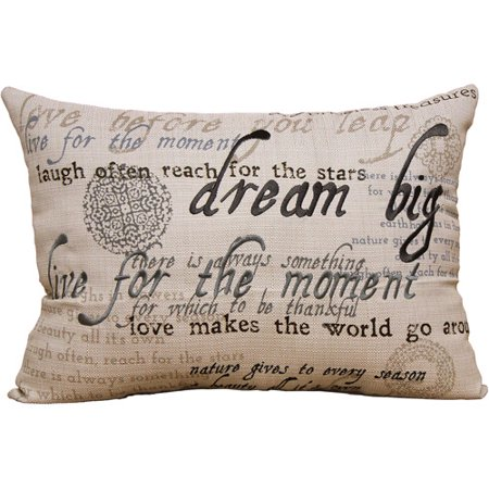 Better Homes & Gardens Sentiments Oblong Pillow