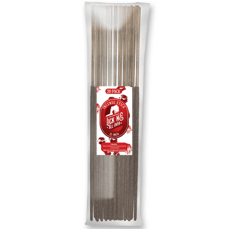 Lick Me All Over Natural Incense Stick [11 inch] Long Lasting Exotic Fragrance Burning Stick - 20 Pack