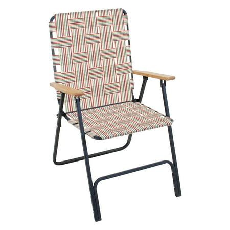 Rio Brands Rio Folding Highback Web Lawn Chair Walmart Com