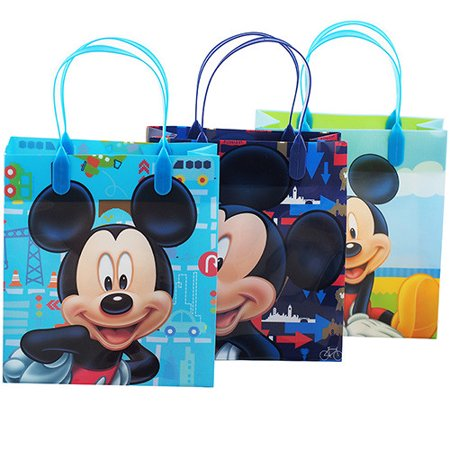Mickey Mouse Character 12 Authentic Licensed Party Favor Reusable Goodie Medium Gift Bags 8