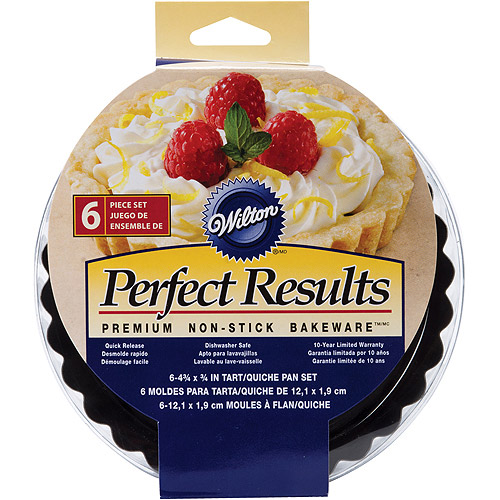 "Wilton Perfect Results 4"" Tart & Quiche Pan Set, 6 ct. 2105-6817"
