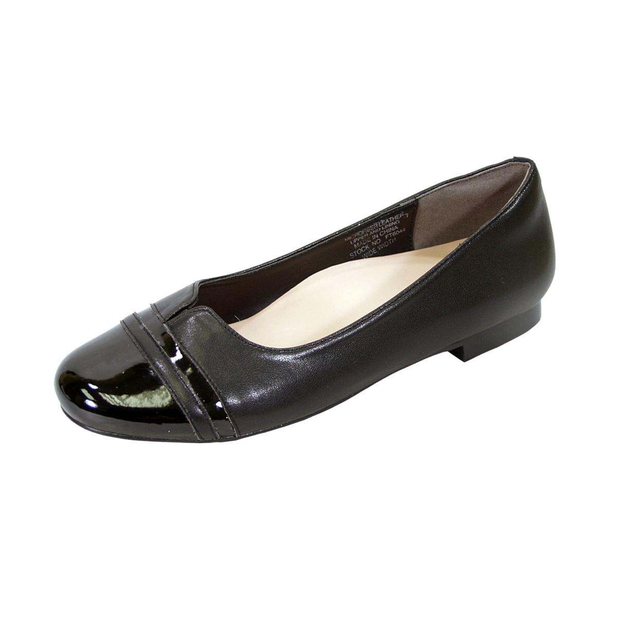 Women Extra Wide Width Round Toe Flats