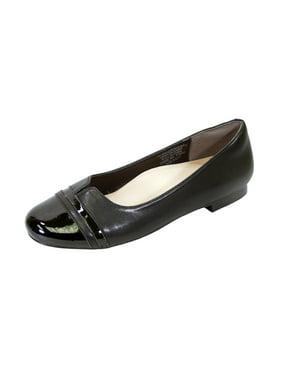 b11027e8b23 Product Image PEERAGE Marina (FT6044) Women Extra Wide Width Round Toe  Flats BLACK 5