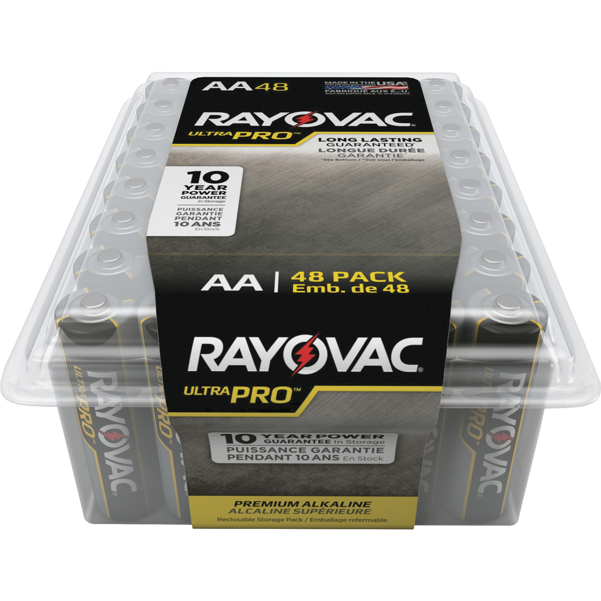 Rayovac Ultra Pro Alkaline AA Batteries, 48 Count