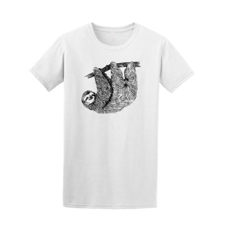 Vintage Hand Drawn Sloth On Tree Tee Men's -Image by Shutterstock](Sloth For Sale)
