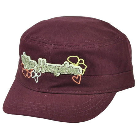 - New Hampshire State USA America Burgundy Womens Fatigue Hat Cap Adjustable City