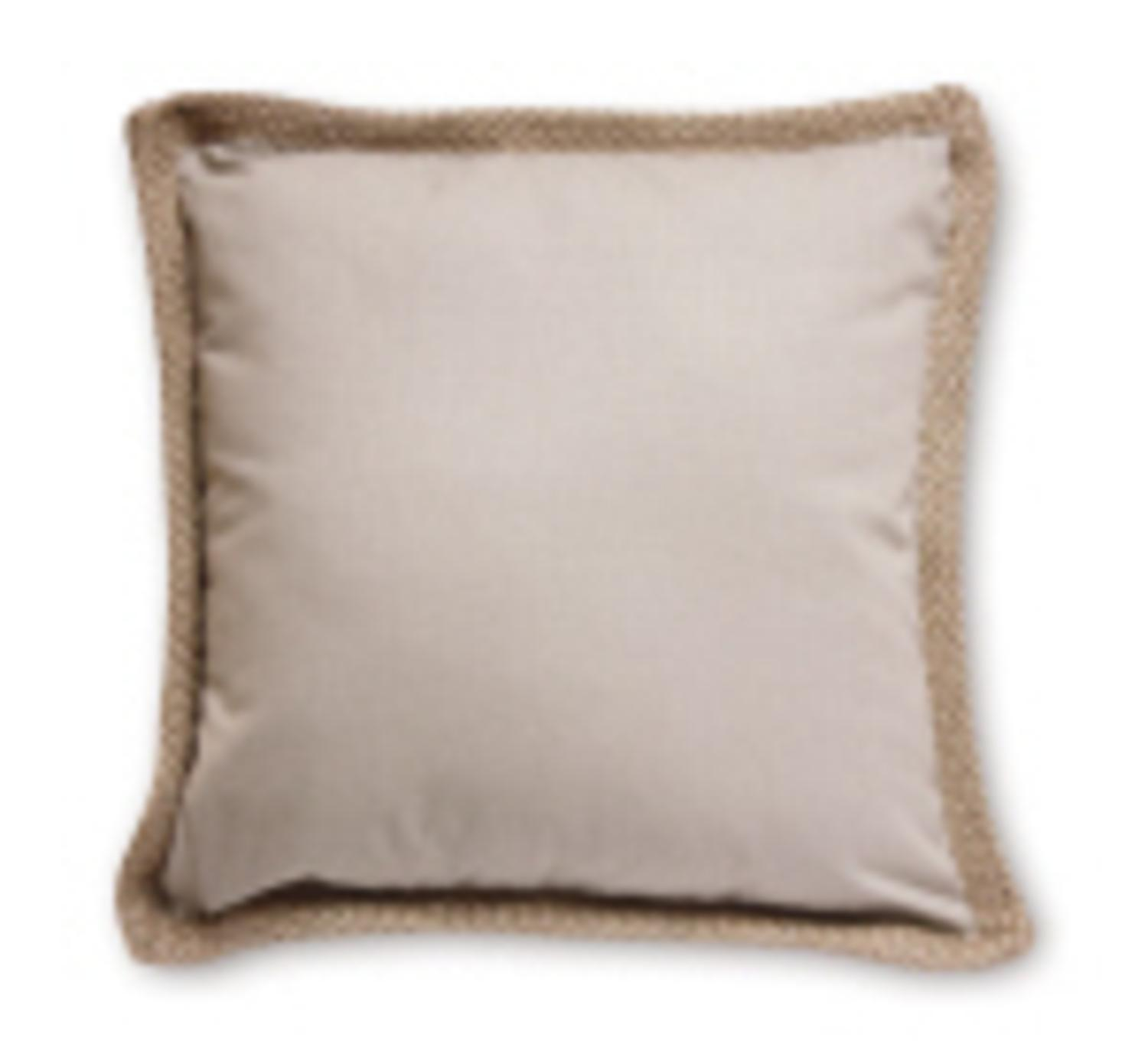 """Seaside Treasures Taupe with Beige Jute Square Decorative Throw Pillow 18"""" - image 1 of 1"""