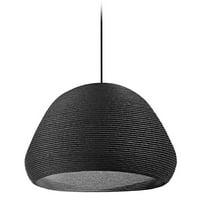 1 Light Pendant, Black - 13.75 x 15 x 15 in.