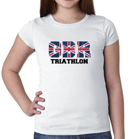 Great Britain Triathlon - Olympic Games - Rio - Flag Girl's Cotton Youth (British Triathalon)