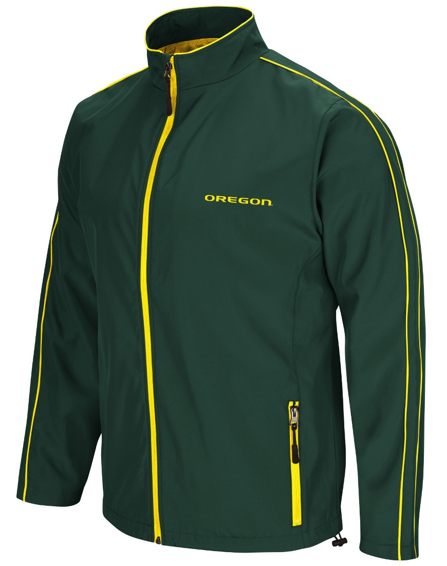 "Oregon Ducks NCAA ""Barrier"" Men's Full Zip Wind Jacket by Colosseum"