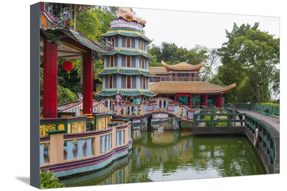 PAGODA CHINESE GARDENS SINGAPORE CANVAS WALL ART PRINT PICTURE READY TO HANG