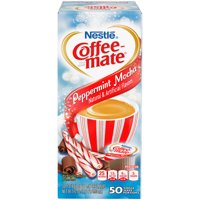 Coffee Mate Peppermint Mocha Liquid Coffee Creamer Singles, Lactose-Free Creamer, 0.375 Fl Oz, 50 Ct