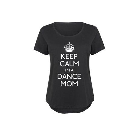 Keep Calm Dance Mom - Ladies Plus Size Scoop Neck - Plus Size Belly Dance Clothes