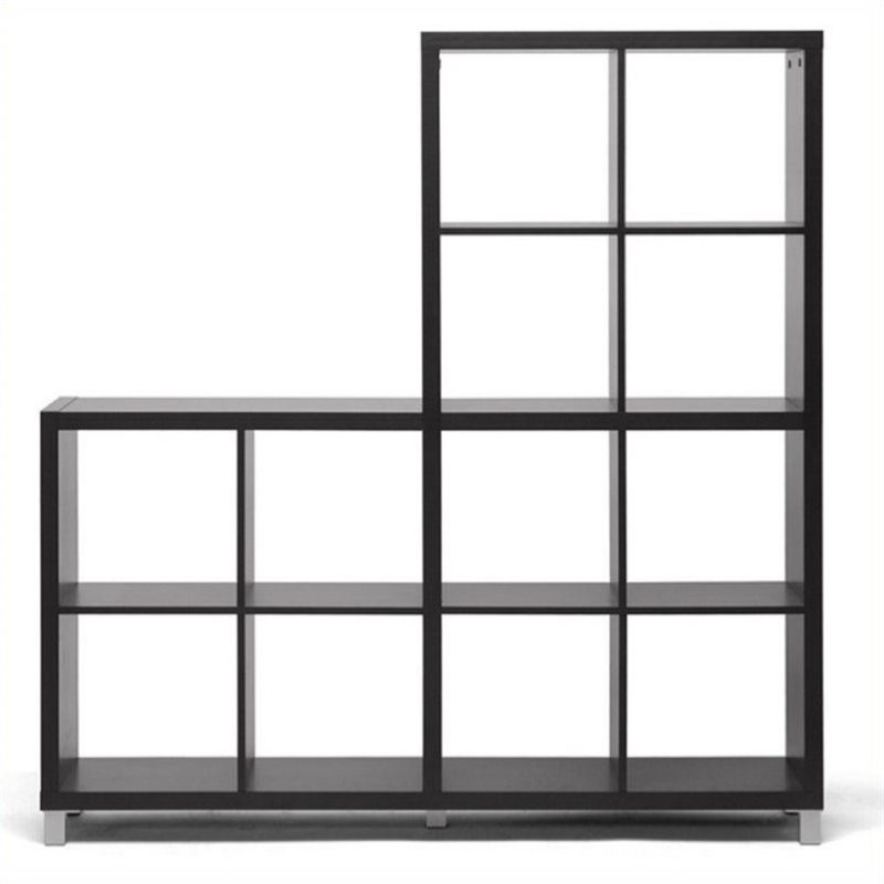 Atlin Designs 12 Cubby Shelf in Dark Brown