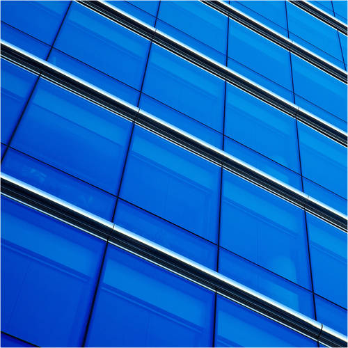 BDF CABL Transparent Color Blue Window Film 36in X 7ft by BuyDecorativeFilm