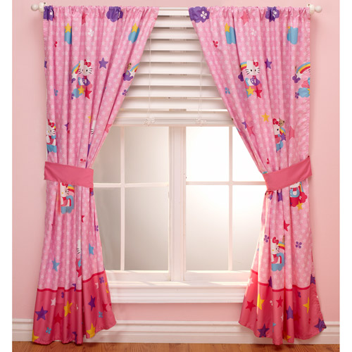 Hello Kitty Stars and Rainbows Window Panel