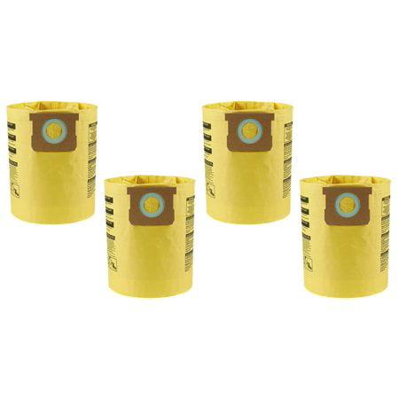 4 PK Shop-Vac 5-8 gal High Efficiency Filter Bag 90671