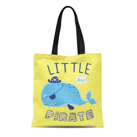 Cute Reusable Grocery Bags (KDAGR Canvas Tote Bag Sea Little Whale for Baby Kids Sailor College Cute Durable Reusable Shopping Shoulder Grocery)