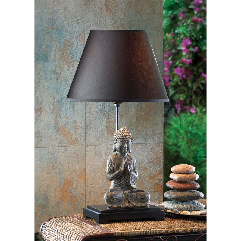 Zingz & Thingz Buddha 24'' H Table Lamp with Empire Shade