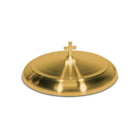 Platter Cover - Communion Tray Cover - Brasstone Stainless Steel