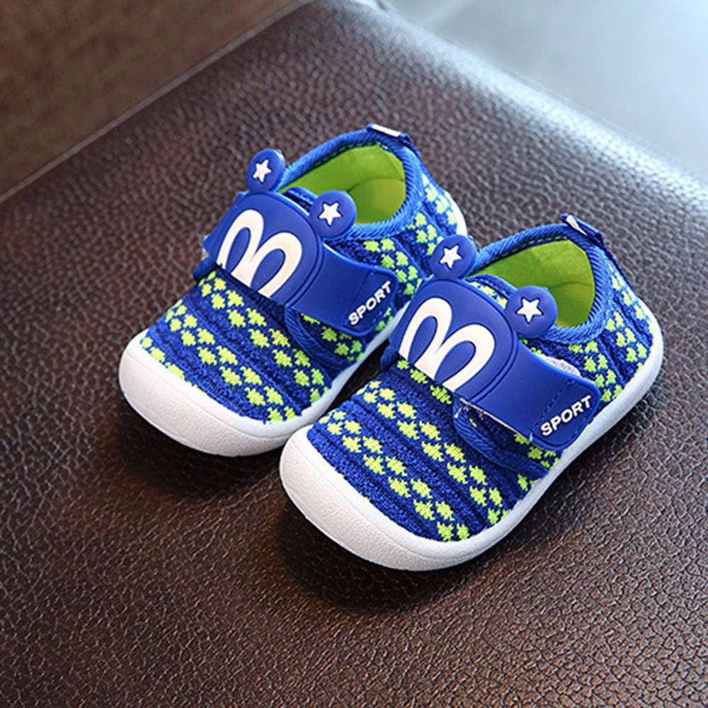 Mosunx Toddler Children Kids Baby Cartoon Star Rabbit Ears Squeaky Single Shoes Sneaker