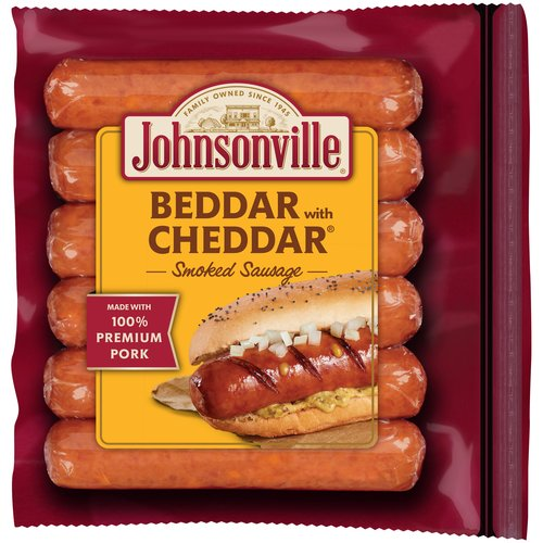 Johnsonville Beddar with Cheddar Smoked Sausage  14oz zip pkg (100868) Holiday Promo