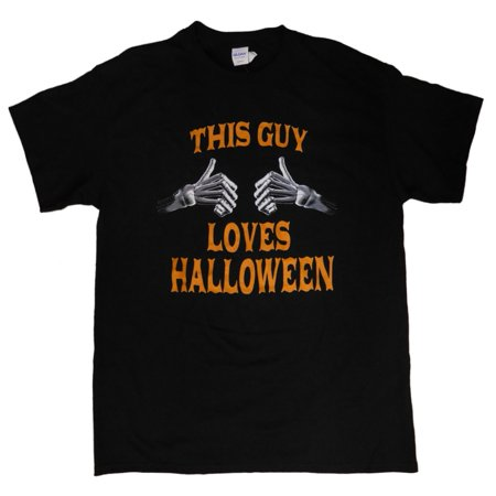 This Guy Loves Halloween Mens Black Holiday T-Shirt - Last Minute Halloween Ideas For Guys