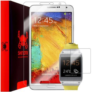 Skinomi Shield Screen Protector Film for Samsung Galaxy Note 3+Galaxy Gear Combo