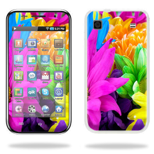 Mightyskins Protective Vinyl Skin Decal Cover for Samsung Galaxy Player 4.0 MP3 Player wrap sticker skins Colorful Flowers