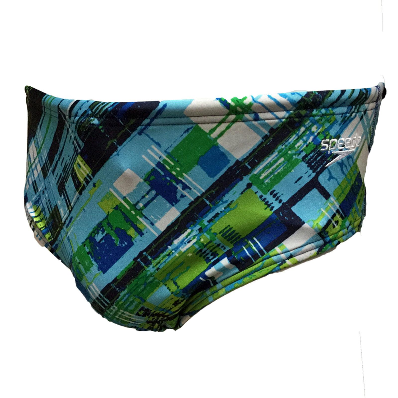 c612bbdc0 Speedo Men's Competitive Plaid Swimsuit Active Trunk Short Briefs 8051371