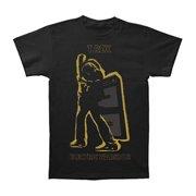 T. Rex - Electric Warrior Metallic Gold Apparel T-Shirt - Black