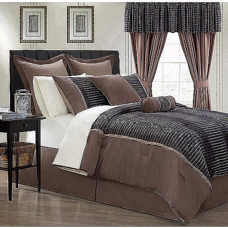 EverRouge Limbo 24-Piece Room in a Bag Bedding and Window Treatments Set