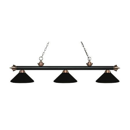 Z-Lite Rivera 3 Light Game Table Light in Matte Black - image 1 de 1