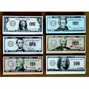 School Smart US Bills Play Money, Set of 320