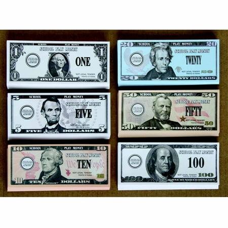 School Smart Us Bills Play Money  Set Of 320