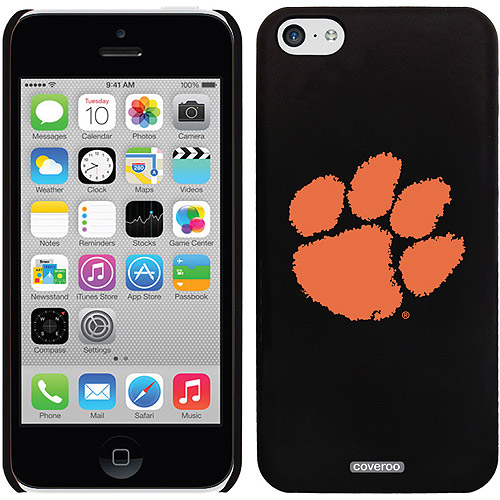 Coveroo Clemson Paw Print Design Apple iPhone 5c Thinshield Snap-On Case