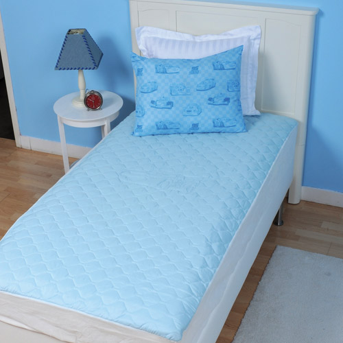 Disney Cars Twin Size Quilted Mattress Pad, Blue