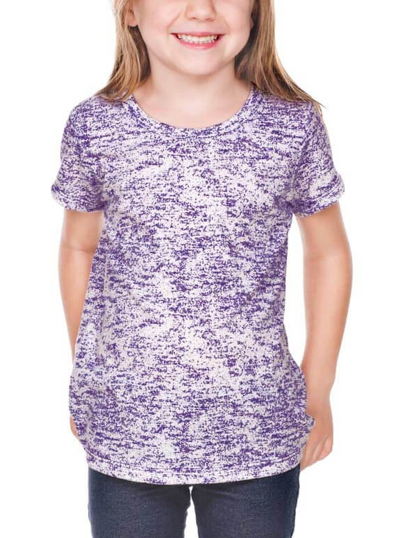 Kavio! Girls 3-6X Static Jersey Print Crew Neck Short Sleeve Grape 6X