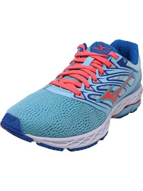 Mizuno Women's Wave Shadow Blue Topaz / Fiery Coral Imperial Ankle-High Running - 10M