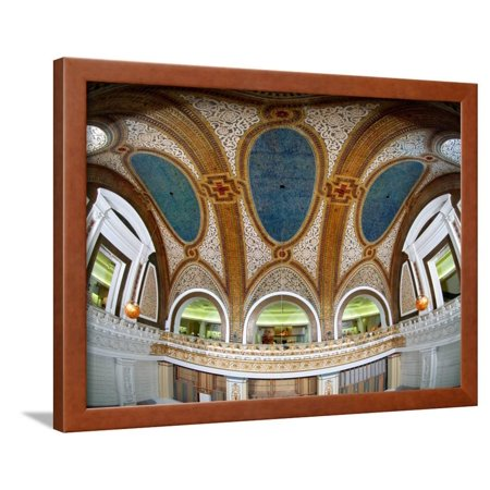 Interior Detail of Tiffany Dome, Marshall Field and Company Building, Chicago, Illinois, USA Framed Print Wall Art By Green Light (Tiffany Online Usa)