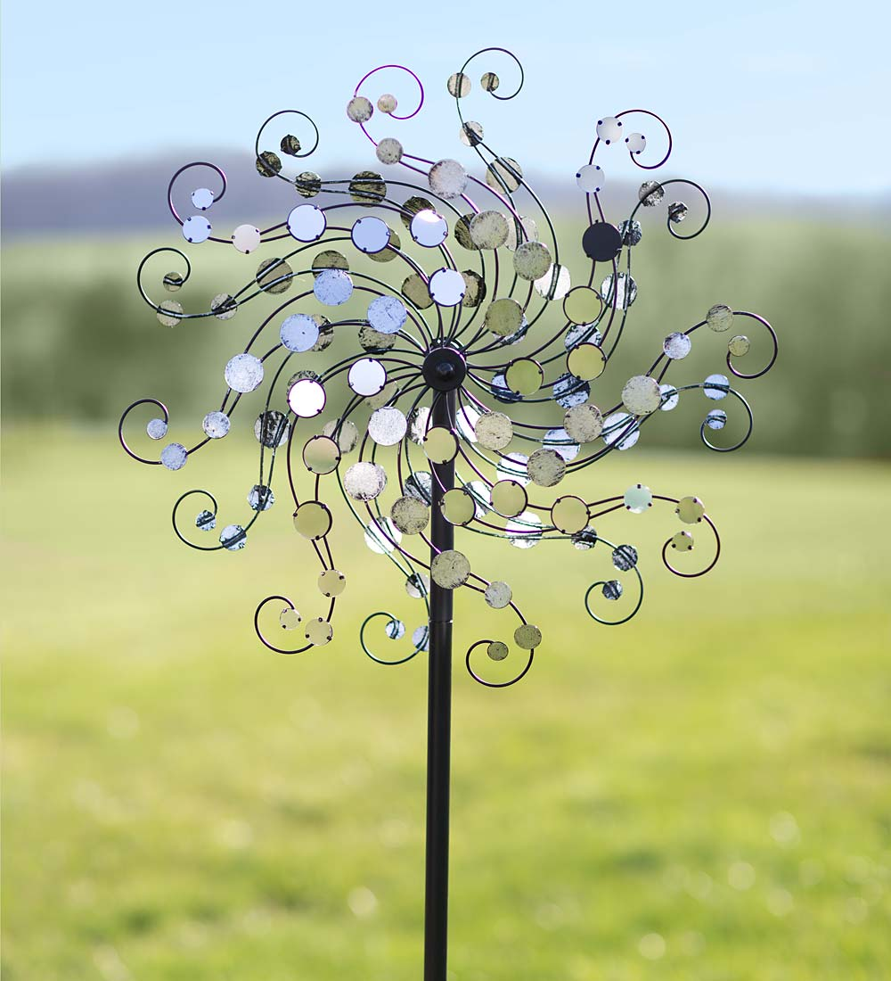 Mirror-Disc Octopus Wind Spinner for Gardens by Problem Solvers