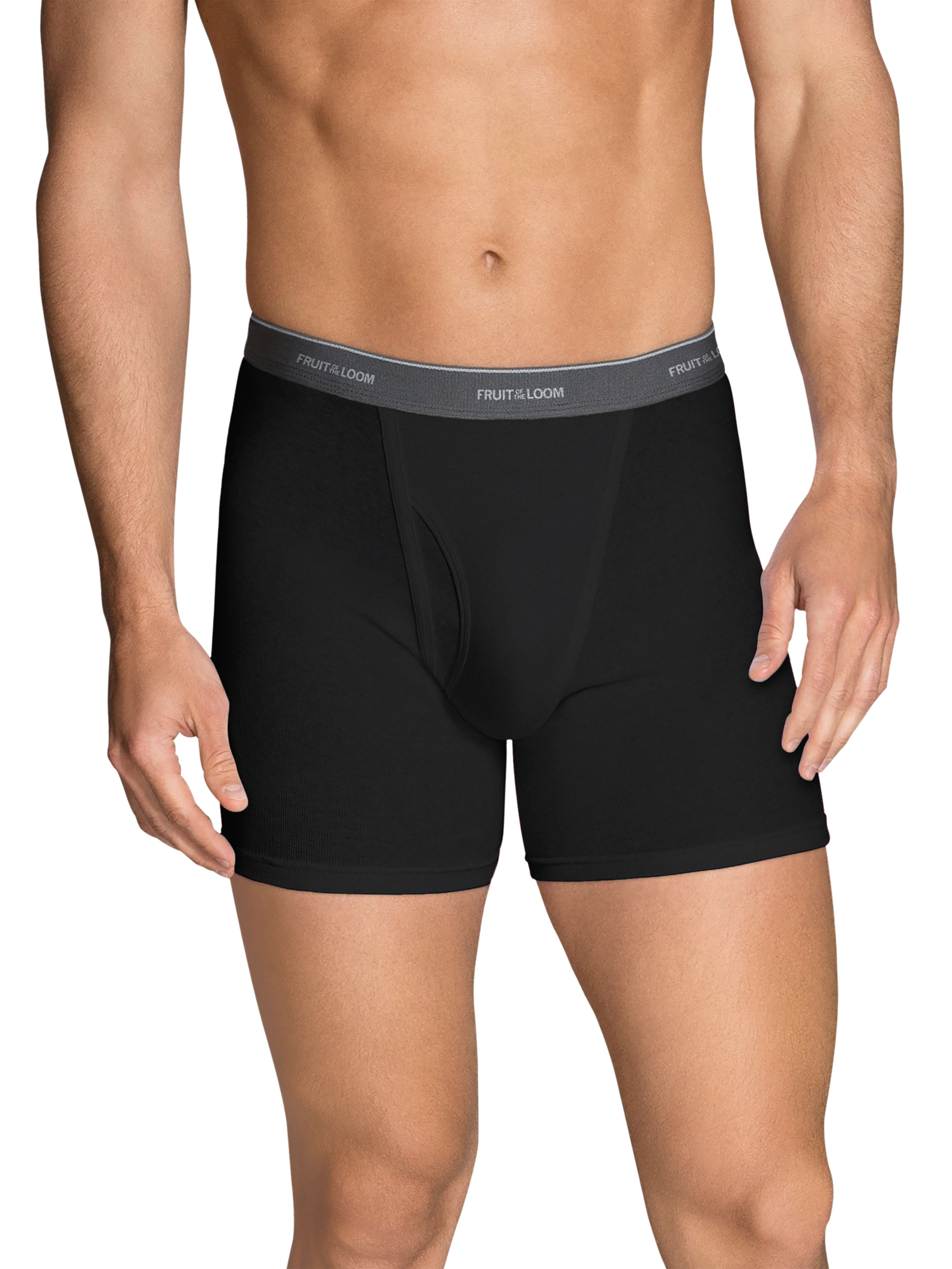 Men's Dual Defense Black/Gray Short Leg Boxer Briefs, 5 Pack