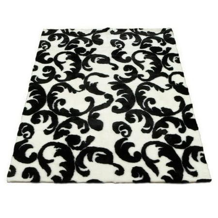 walk on me modern black white area rug. Black Bedroom Furniture Sets. Home Design Ideas