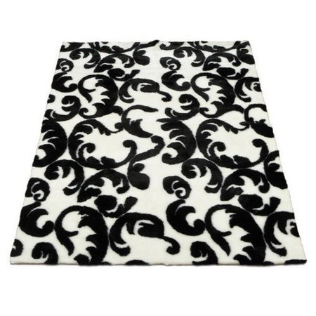 walk on me modern black white area rug