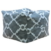 Premiere Home Madrid Summerland Gray 17 in. Pouf Ottoman