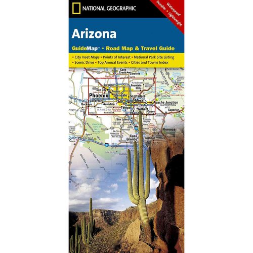 National Geographic Arizona:  Road Map & Travel Guide