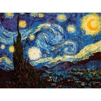 Starry Night, c.1889 Art Print  By Vincent van Gogh