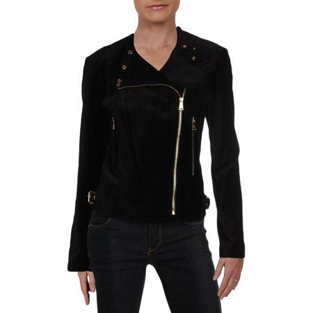 fall jackets women : Lauren Ralph Lauren Womens Fall Velvet Motorcycle Jacket