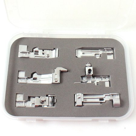 For SINGER household sewing machine accessories presser foot 6 sets For SINGER Household Sewing Machine Accessories Presser Foot 6 SetsFeature:100% brand new and highqualityColor: As the pictureshowsPackage Weight: Approx.250gSINGER sewing machine special presser foot 6 sets, household overlock machine universal, industrial sewing machine is not available! Size:18cm x14cm x2.5cm(Approx.)Package Content:1 x Set(6PC)